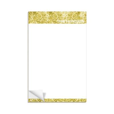 Gold Glitter Letterhead Notepads
