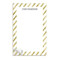 Glittery Gold Stripes Notepads