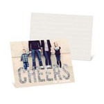 Glitter-Look Cheers Horizontal Photo -- New Year's Cards