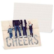 Glitter-Look Cheers Horizontal Photo
