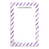 Glittery Purple Stripes Custom Notepads