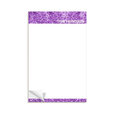 Purple Glitter Letterhead Notepads