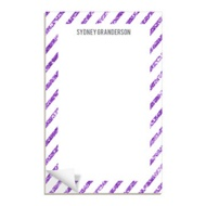 Glittery Purple Stripes Notepads