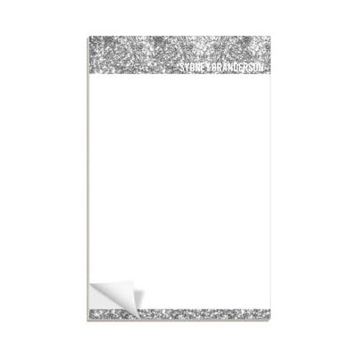 Silver Glitter Letterhead Custom Notepads