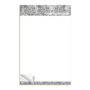 Silver Glitter Letterhead -- Notepads