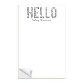 Hello Silver Glitter -- Notepads