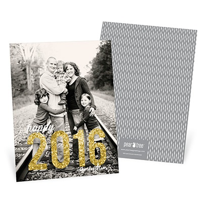 Amazing Year Vertical Photo -- New Year's Cards