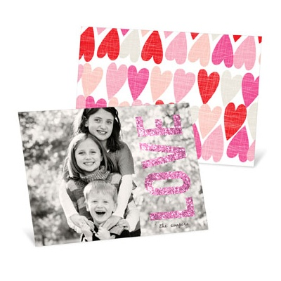 Glowing Love Horizontal Photo Valentine's Day Photo Cards