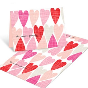 Artsy Hearts Folded -- Valentine's Day Cards For Kids