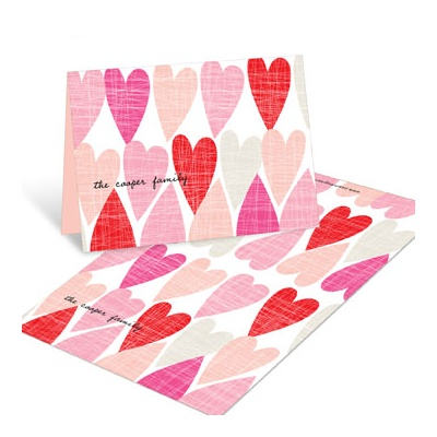 Artsy Hearts Folded Valentine's Day Cards For Kids