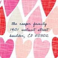 Artsy Hearts Valentine's Day Address Labels