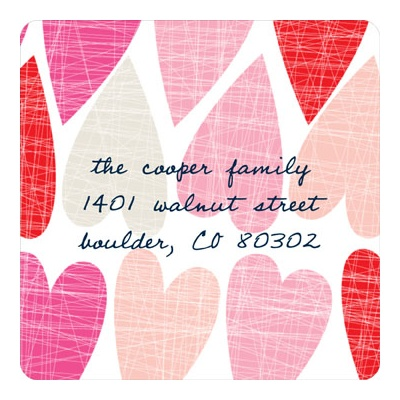Artsy Hearts Valentine's Day Address Labels