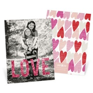 Glowing Love Vertical Photo Valentine's Day Photo Cards