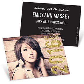 Glam Grad -- Mini Graduation Announcements