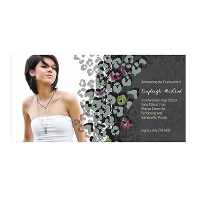 Photo Paper Wild About Grad Graduation Announcements