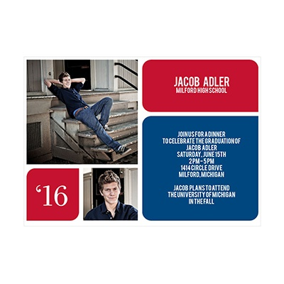 Photo Paper His Favorite Moments Graduation Announcements