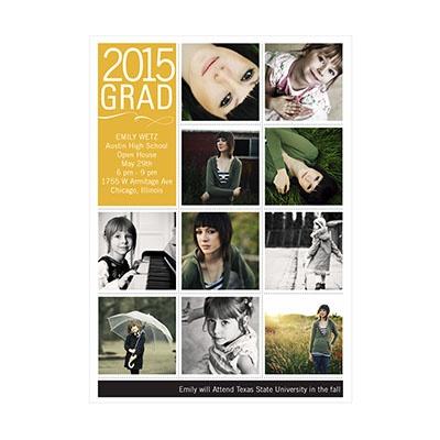 Photo Paper Connect The Dots Graduation Announcements