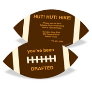 Football Draft Pick Kids Birthday Invitations