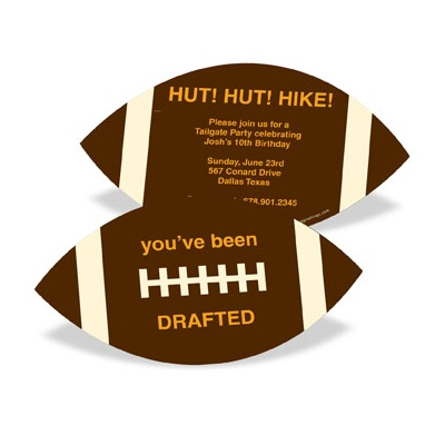 Football Draft Pick -- Kids Birthday Invitations