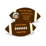 Football Draft Pick With Photo -- Kids Birthday Invitations
