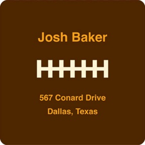 Football Draft Pick -- Address Labels