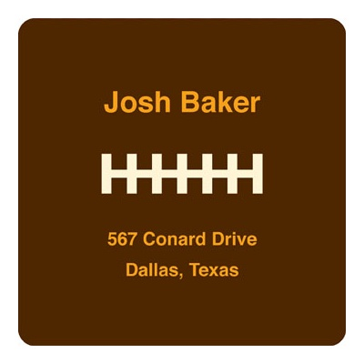 Football Draft Pick Address Labels