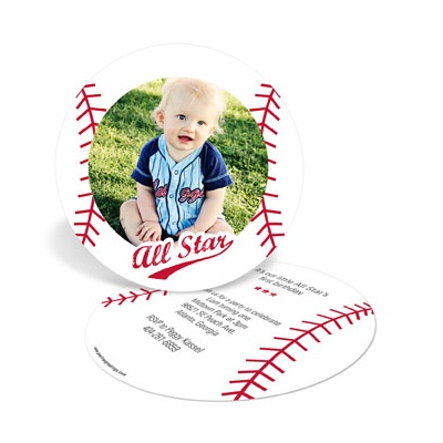 Baby All Star 1st Birthday Invitations