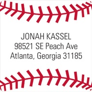 Baseball All Star Address Labels