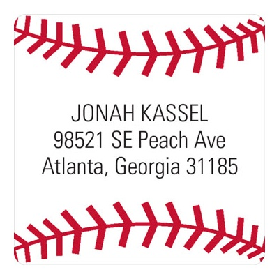 Baseball All Star Address Labels