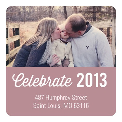 Photogenic Year -- New Year's Address Labels