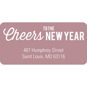 Cheers to the Year -- New Year's Address Labels