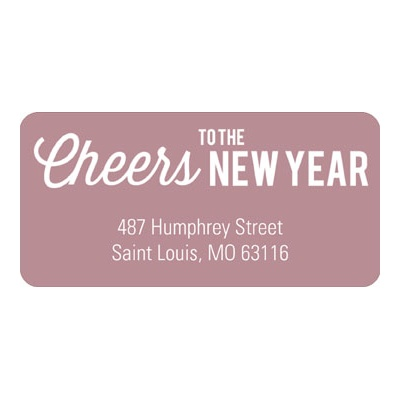Cheers to the Year New Year's Address Labels