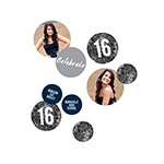 Glam Grad Black Photo Table Decor -- Graduation Party Decorations