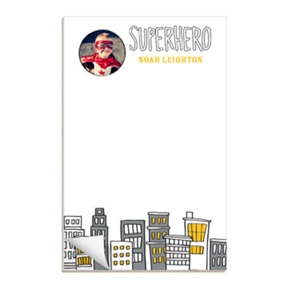 Searching for Superheroes -- Custom Notepads