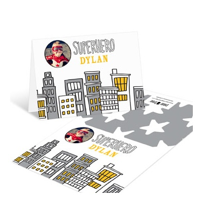 Superhero Photo Thank You Cards