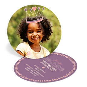 Crown Me Princess -- Kids Birthday Invitations