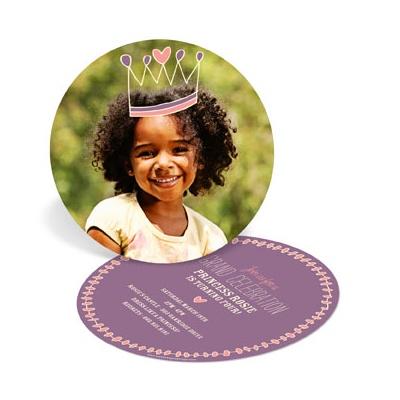 Crown Me Princess Kids Birthday Invitations