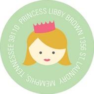 A Princess Like Me Address Labels