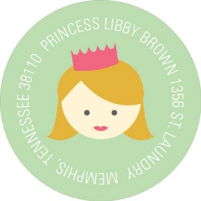 A Princess Like Me -- Address Labels