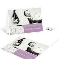 Sweet Memories Girl Thank You Card Memorial Cards