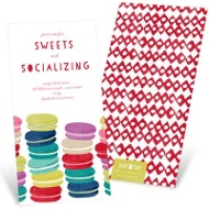 More Macaroons Please-- Party Invitations