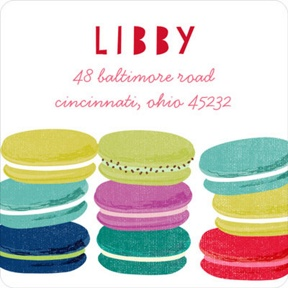 More Macaroons Please -- Address Labels