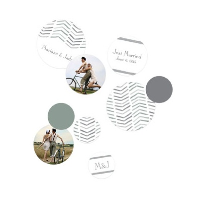 Chevron Dreams With Photos Table Decor Wedding Decorations