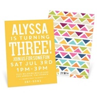 Multicolor Mosaic Kids Birthday Invitations