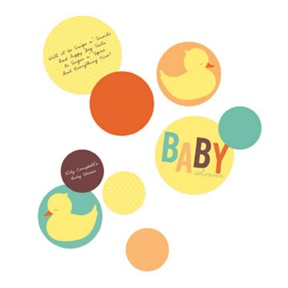 Baby Duckling Table Decor -- Baby Shower Decorations