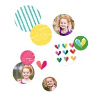 Colored Hearts Table Decor -- Kids Party Decorations