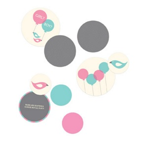 Round Reveal Table Decor -- Baby Shower Decorations