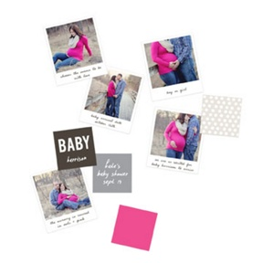 Expectant Photos Table Decor -- Baby Shower Decorations