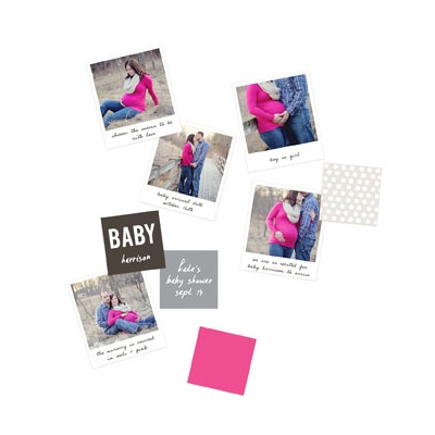 Expectant Photos Table Decor Baby Shower Decorations