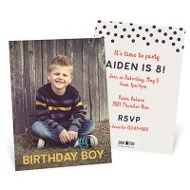 Falling Dots Kids Birthday Invitations